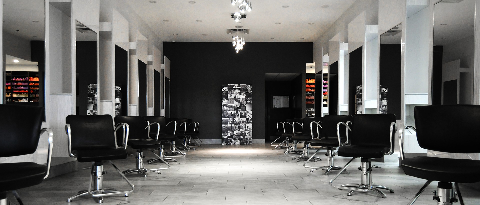 Salon collage hair and beauty salon award winning for Hair salon interiors photos