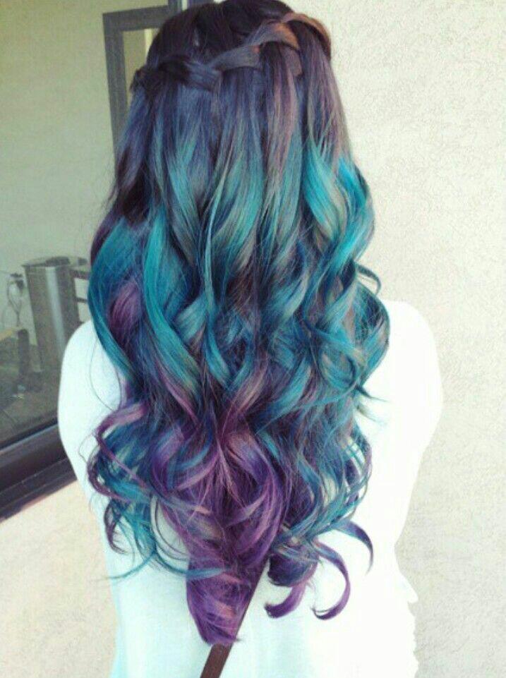 Salon Collage Hair And Beauty Salon Colorful Hair